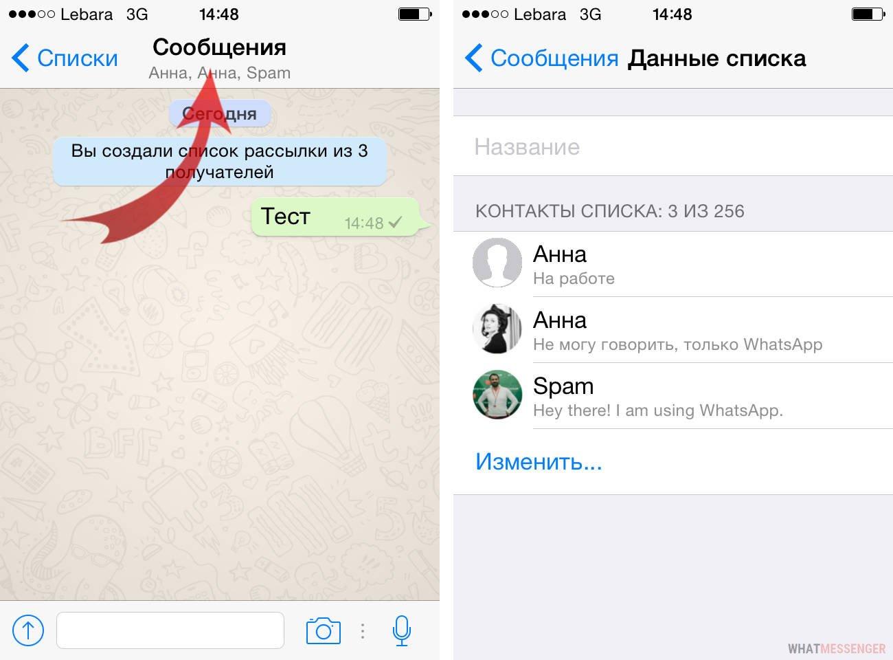 Как сделать рассылку в whatsapp на айфоне скрипт смс рассылки на php
