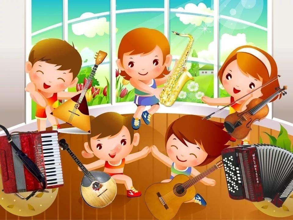 Музыкальные веселые картинки
