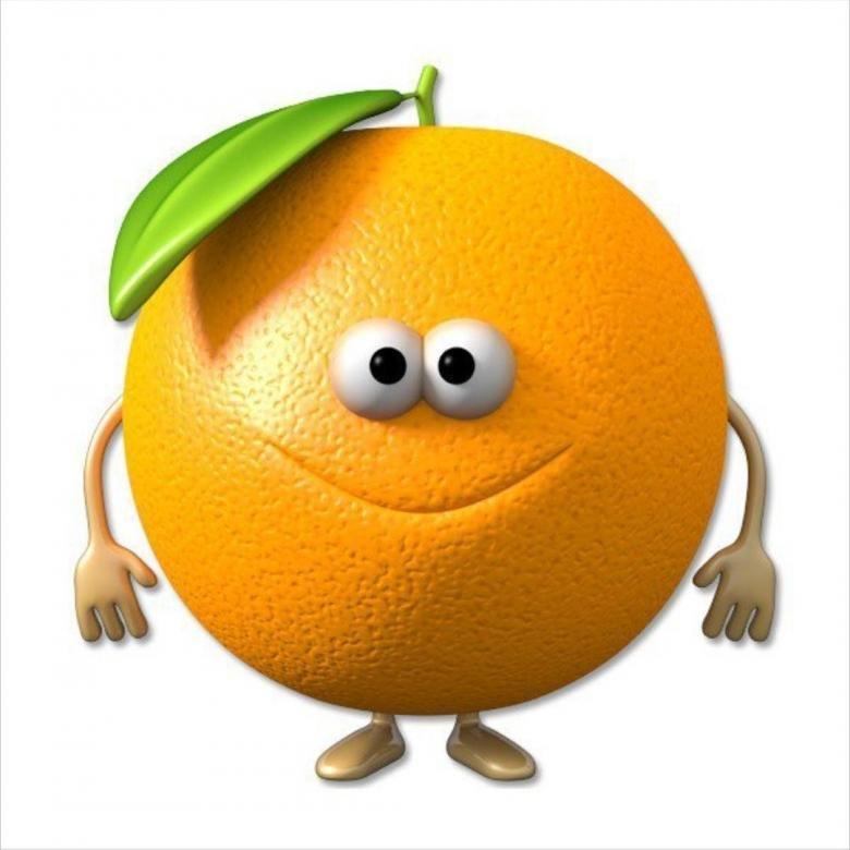 Веселый апельсин картинки для детей на прозрачном фоне